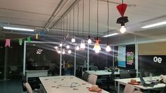 Luminárias que produzimos juntos com pessoal do Impact Hub Floripa