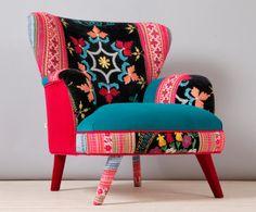 Ciel de suzani fauteuil - turquoise