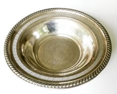 Vtg Rogers Sterling Silver Bowl #1970 Gadroon Border 160 Grams #Rogers