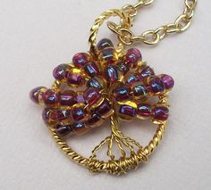 Tree of Life  Golden Shades by Kikiburrabeads on Etsy, $16.50