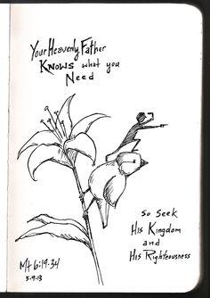 Matthew 6:19-34 • Illustrated Devo by Aaron Zenz