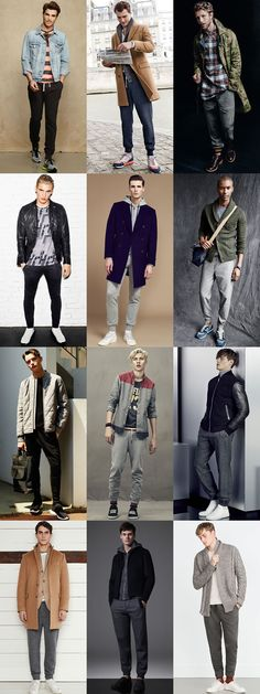 Men's Slimline Joggers and Sweatpants outfit inspiration lookbook