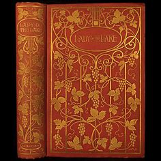 THE LADY OF THE LAKE, art nouveau fine binding, 1900 // by SIR WALTER SCOTT