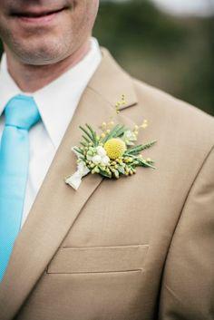 Intimate Nashville Wedding - Groom Boutonnierre