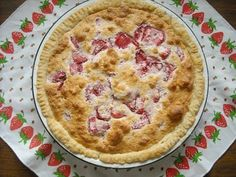 The Vintage Recipe Project: Strawberry Sponge Pie