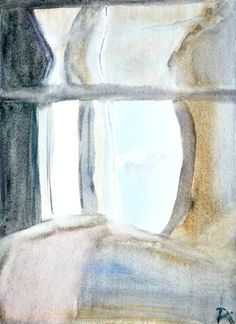 Partial View / watercolor painting by Rita Kéri https://www.etsy.com/listing/113725984/partial-view-delicate-abstract?ref=shop_home_active_80