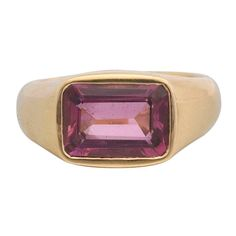 Pink Tourmaline Gold Ring