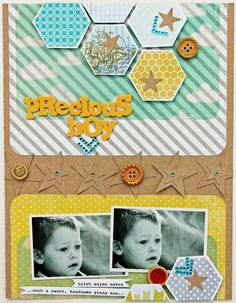 use for video game layout // Precious-Boy---Layout by Melissa Mann