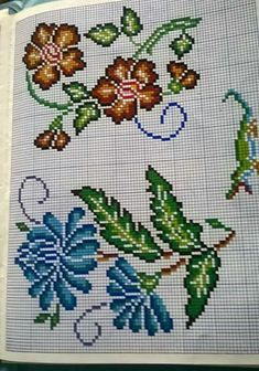 This Pin was discovered by luc Just Cross Stitch, Cross Stitch Borders, Cross Stitch Flowers, Cross Stitching, Cross Stitch Patterns, Afghan Patterns, Knitting Patterns, Sewing Patterns, Crochet Patterns