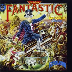 Captain Fantastic Greatest Album Covers, Iconic Album Covers, Rock Album Covers, Classic Album Covers, Music Album Covers, Music Albums, Pop Albums, Elton John Album Covers, Elton John Cd