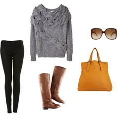 Fall casual. LOVE this sweater.