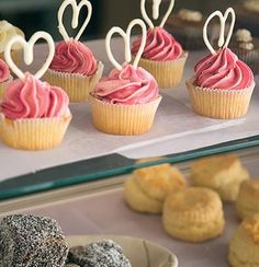 Nothing brings a family together like baking :) Try these beautiful fairy cakes with twirled white-chocolate icing Cupcakes, Cupcake Cakes, Shoe Cakes, White Chocolate Icing, Dragon Cakes, Fairy Cakes, White Wedding Cakes, Little Cakes, Recipes