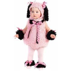 Toddler Pinkie Poodle Costume Princess Paradise 4422, Toddler Girl's, Size: 4, Multicolor