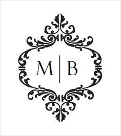 Custom Wedding Monogram Logo Digital Item Rh Com