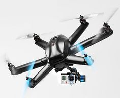 Hexo  GoPro Drone.  The Hexo+ is an autonomous flying camera that follows and films you. The 6-blade heli drone links with your phone & the Hexo+ App making it nearly effortless to do your own automated aerial film shoots.  $1149