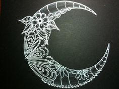 ZB2 Moon | Second attempt of white gel pen on black paper wi… | Flickr