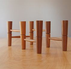 Mid Century Modern Teak Articulating Candleholder Candelabra - Danish modern. $78.00, via Etsy.