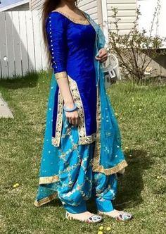 Design <b>Design.</b> 35 Latest Patiala Salwar Kameez Designs Images – SheIdeas. Salwar Designs, Patiala Suit Designs, Blouse Designs, Blouse Patterns, Sewing Patterns, Punjabi Salwar Suits, Punjabi Dress, Salwar Kurta, Shalwar Kameez