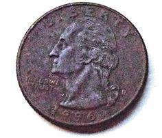 1996 ERROR WASHINGTON QUARTER THIN OR NO SILVER OUTER COLLECTIBLE US COINS COIN
