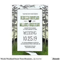 Woods Woodland Forest Trees Mountain Wedding