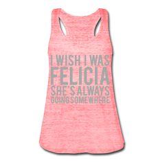 SILVER GLITZ PRINT! I Wish I Was Felicia, Women's Flowy Tank Top by Bella
