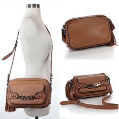 Rebecca Minkoff Almond Fringe Hobo Disco Tassel Leather Convertible Bag $295RARE   eBay