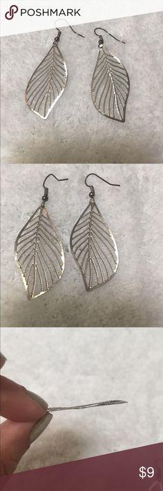 Silver Leaf Drop Earrings New and unbranded silver leaf drop earrings. Will arrive in protective packaging. Jewelry Earrings