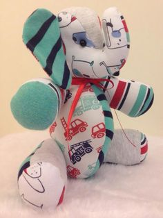 memory teddy made from baby clothing