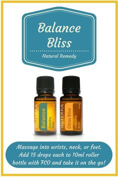 Essential Oils for Mood Management. Balance and Citrus Bliss promote relaxation, grounding, and balance that can lessen stress and promote positive thoughts. The perfect combination of calming and mood boosting!