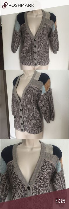 Anthropologie Sparrow Wool Blend Cropped Sleeve Anthropologie Sparrow Wool Blend Cropped Sleeve size small Anthropologie Sweaters