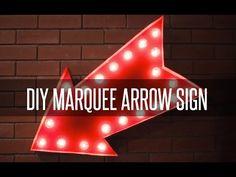 DIY MARQUEE ARROW SIGN - YouTube