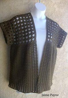 (4) Name: 'Crocheting : V Stitch Cardigan Small to 6X #1618