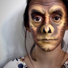 I'm so serious. #monkey #monkeymakeup #monkeyface #Makeup #makeuplover #makeupartist #makeupplayer #ilovemakeup #itisnotmyface #ilovepaintmyface #facepainting #costume #costumeplayer #monkey #gorilla #gorillamakeup #intothejungle #omg #ohdear #ohohahah