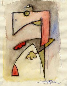 Portrait de la bestiole assise - Oeuvre de l'artiste plasticien contemporain - Cédric Bescond