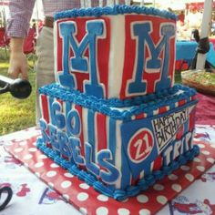 Ole miss cakeREBEL. Hotty Toddy #kendrascott #teamKS