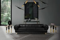 Your living room is one of the most lived-in rooms in your home. So, you need to know this exquisite black living room decor. Living Room Sets, Living Room Furniture, Living Room Decor, Dining Room, Bedroom Decor, Salon Mid-century, Mid-century Modern, Home Modern, Modern Decor