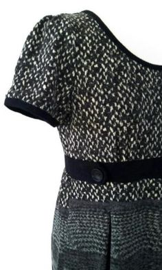 SALE Lavand jurkje maat L grijs zwart! Tante Twiggy Shop <3 www.marktplaats.nl/verkopers/20281615.html