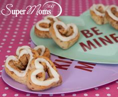 Sweetheart Cinnamon Rolls - This Valentine's Day recipe will warm your loved ones hearts, inside and out. Serve with heart-shaped fruit and milk for a complete Valentine's Day breakfast! Tags: Valentine's Day Recipe | Valentine's Day Breakfast | Valentine's Day Meal