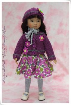 """Three piece Outfit Dress Clothes for Effner 13"""" Little Darling by Heavenly Marie #DiannaEffner"""