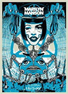 Todd Slater Marilyn Manson Poster