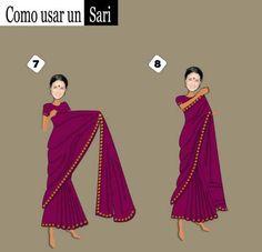 Como usar un Sari (3)