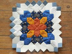 mylifeisastitch.blogspot.com Lucy Boston - Patchwork of the Crosses . I've just started adding the one inch 'connecting squares'.  WHY did I wait until the end to add them to each block???