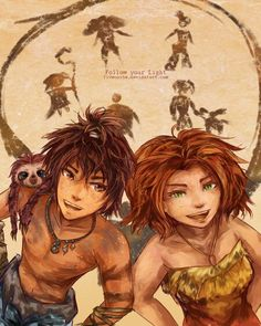 The Croods anime style