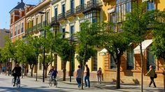 The 20 Most Bike-Friendly Cities on the Planet | Seville, #10. Once the poster child of the cycling world, the Spanish city slips to a respectable tenth place from a lofty fourth. Simply because the status quo that seems to affect all manner of cities seems to have slowed the development pace.  | Credit: JAM WORLD IMAGES/Alamy | From Wired.com