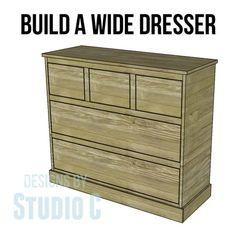 Build A Beautiful Wide Chest/Dresser!