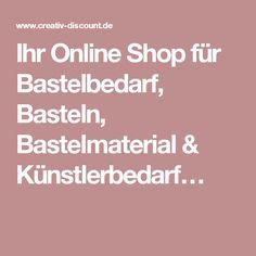 Ihr Online Shop für Bastelbedarf, Basteln, Bastelmaterial & Künstlerbedarf…