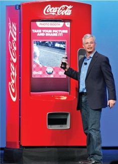 Intel chief product officer demonstrates how Coke's touchscreen vender creates a powerful platform for interactive marketing