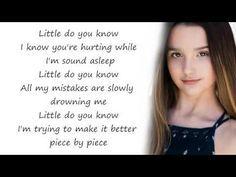 Alex Sierra Little Do You Know Annie Leblanc Hayden Summerall Cover Lyrics Youtube Little Do You Know Do You Know Lyrics Alex And Sierra