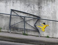 Vandalism Done Right – graffiti street art 3d Street Art, Murals Street Art, Amazing Street Art, Street Art Graffiti, Street Artists, Graffiti Artists, Urbane Kunst, French Street, Land Art