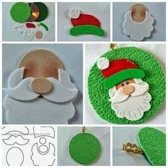 Risultati immagini per moldes de natal Christmas Makes, Noel Christmas, Christmas Projects, Holiday Crafts, Father Christmas, Christmas Templates, Cd Crafts, Felt Crafts, Felt Christmas Ornaments